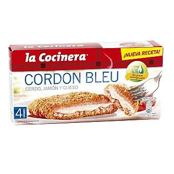 La Cocinera Escalopines de cerdo cordon bleu Caja 376 g (4 piezas)
