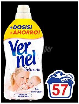 Vernel Suavizante concentrado delicado Botella 54 dosis