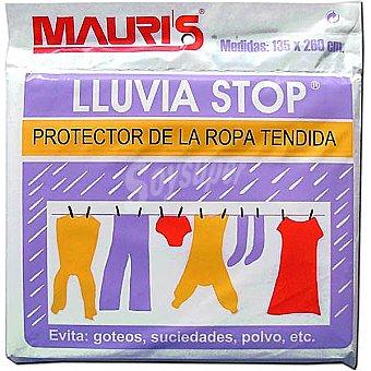 MAURIS Lluvia Stop Protector de la ropa tendida 135x260 cm Bolsa 1 unidad