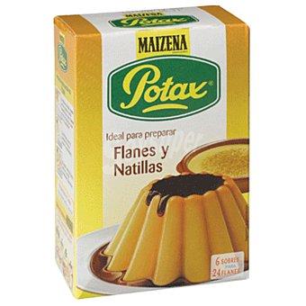 Maizena Potax preparado para flan o natillas 6 sobres para 24 flanes  Estuche 195 g