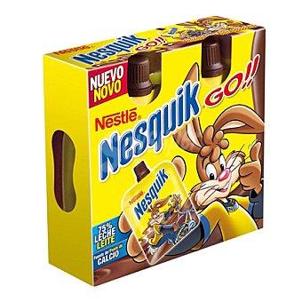 Nesquik Nestlé Postre lácteo de chocolate Go Pack 4x80 ml