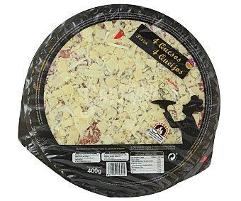 Auchan Pizza 4 quesos cocida en horno de piedra 400 gramos