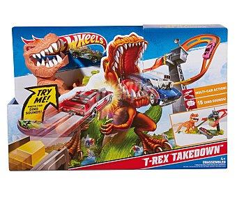 HOT WHEELS Pista Ataque del Dinosaurio 1 Unidad