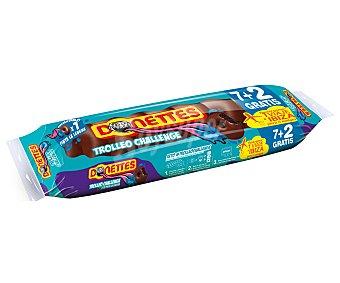Donettes Bollito recubierto de chocolate Trolleo Challenge Paquete 7 u (171 g)