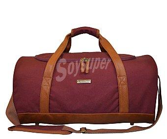 AIRPORT Bolsa de viaje 60 litros, sin ruedas, estructura de material sintético color rojo y asas color cuero alcampo