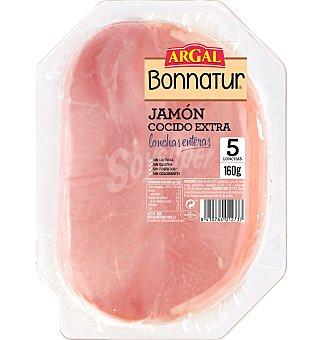 Bonnatur Argal Jamón cocido de calidad exta cortado en lonchas Envase 160 g