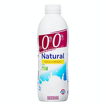 Hacendado Yogur líquido desnatado natural edulcorado Botella de 1 l