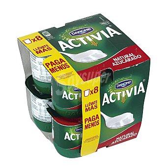 Activia Danone Yogur activia natural azucarado Pack 8 x 125 g