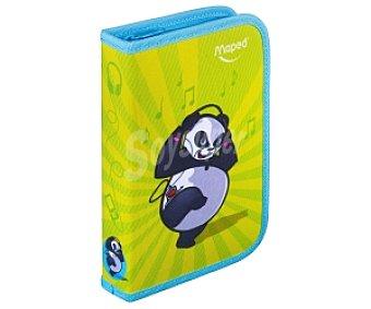 Maped Estuche con Ilustración de un Panda con Pinturas, Rotuladores, Bolígrafos y Reglas en su Interior haciendo un Total de 32 Componentes 1 Unidad
