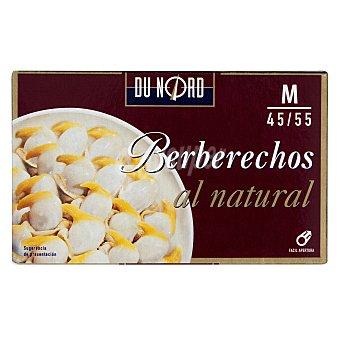 Dunord Berberechos natural medianos Lata 111 g escurrido 63 g