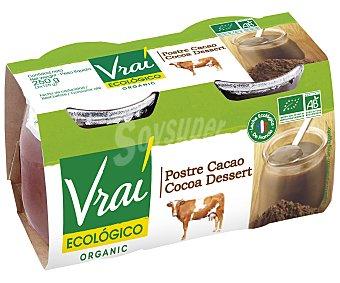 Vrai Postre ecológico de chocolate 2 ud x 125 g