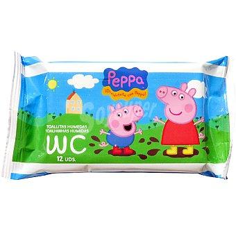 PEPPA PIG Toallitas humedas para el WC Envase 12 unidades