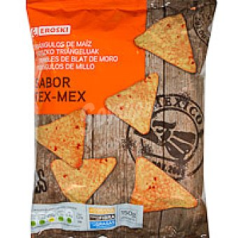 Eroski Triángulo de maíz Tex Mex Bolsa 150 g