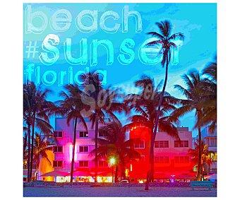 IMAGINE Cuadro con una imagen representativa de Sunset Beach. Dimensiones 50x50Cm 1 Unidad
