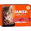 Delights land&sea alimento húmedo variado para gatos adultos en salsa Pack 12 x 85 g IAMS
