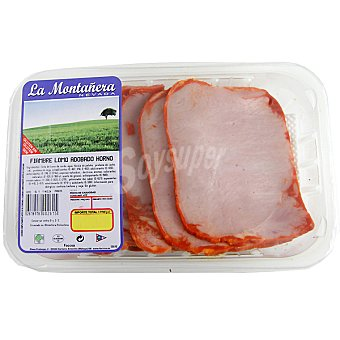 LA MONTAÑERA Fiambre de lomo adobado de cerdo al horno bandeja 350 g Bandeja 350 g