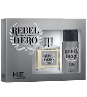Mango Estuche de colonia spray 100 ml. + desodorante 150 ml. Rebel Hero 1 ud