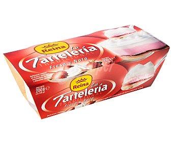 Reina Tarta de crema de fresa y nata con mermelada de fresa y bizcocho calado LA tartelería 2 x 100 g