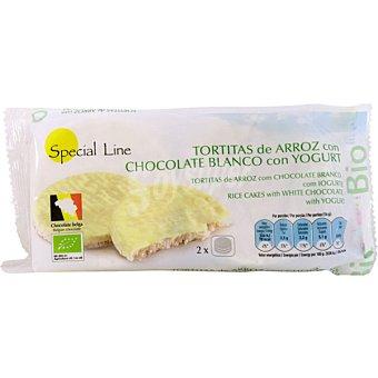 SPECIAL LINE Bio Tortitas de arroz con chocolate blanco y yogur envase 100 g 4 unidades