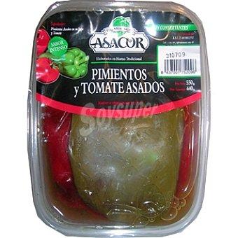 ASACOR Pimientos verdes y rojos con tomate asados Tarrina 550 g