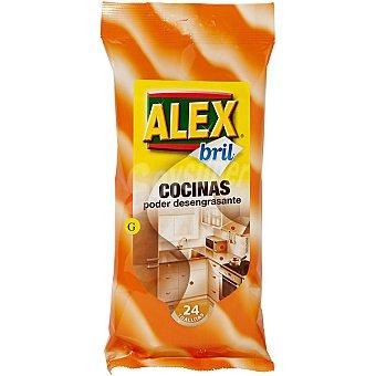 Alex Bril Toallitas desengrasantes Paquete 24 unidades