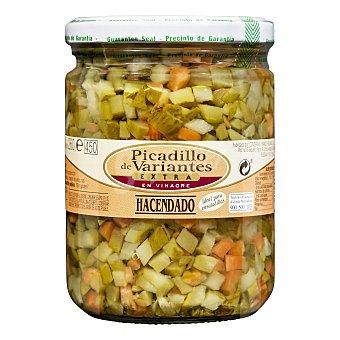 Hacendado Picadillo de variantes (pepinillo y zanahoria) Tarro 425g. escurrido 260g