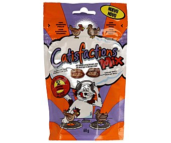 CATISFACTION Snack para gatos Catisfactions Pollo y Pato 60 gr 60 gr