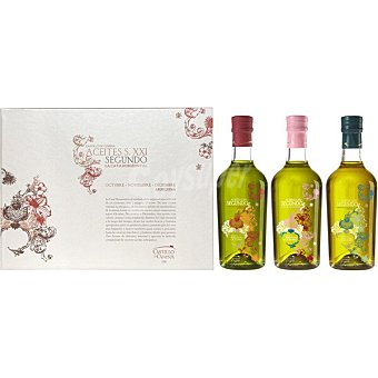 Castillo de canena Aceite de oliva virgen extra arbequina 100% Estuche de cata horizontal de 3 botellas 375 ml 3 botellas 375 ml