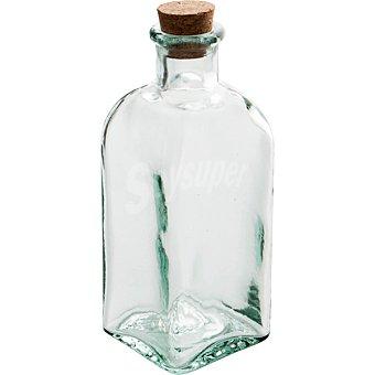 QUID Bari Frasco Cuadrado de vidrio con tapón de corcho 0,25 l