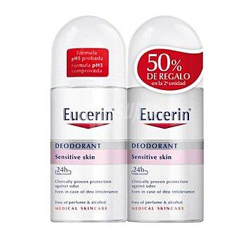 Eucerin Desodorante roll on pH5 para pieles sensibles Pack 2x50 ml