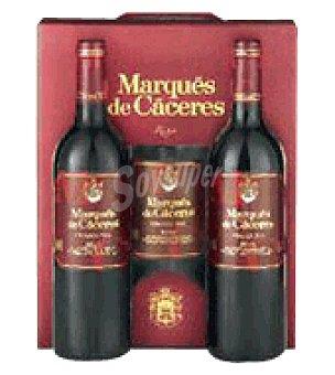 Marqués de Cáceres Estuche cartón con 3 botellas de vino d.o.ca. Rioja 75 cl