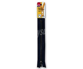 STYLE Cremallera de 18 cm de largo para vaqueros, color azul marino 1 unidad
