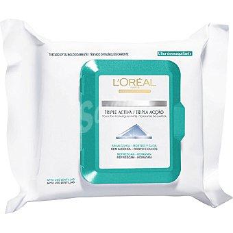Dermo Expertise L'Oréal Paris Toallitas desmaquilladoras Ideal Balance para rostro y ojos piel normal/mixta 25 unidades 25 unidades
