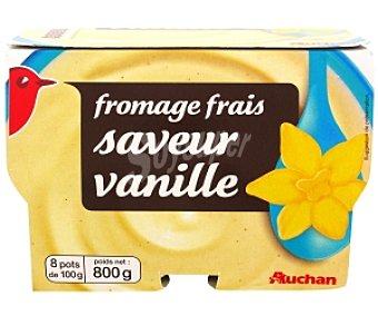 Auchan Queso fresco sabor vainilla 8x100g