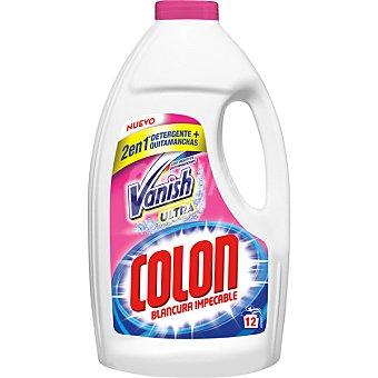COLON detergente máquina líquido gel con agentes Vanish Ultra quitamanchas  botella 12 dosis