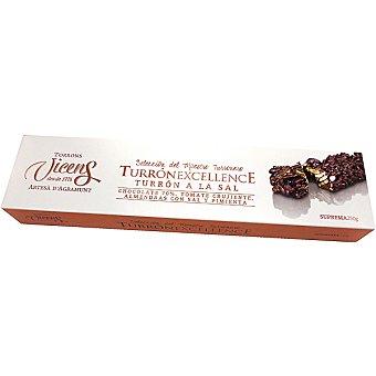 VICENS TURRON EXCELLENCE Turrón a la sal con chocolate 70%, tomate crujiente, almendras con sal y pimienta tableta 250 g tableta 250 g