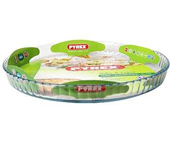 Pyrex Molde redondo plano para tartas de vidrio borosilicato, 30 centímetros de diámtero pyrex