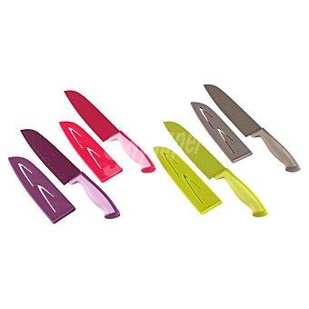 QUO Cuchillo Santoku con funda en colores surtidos 1 Unidad
