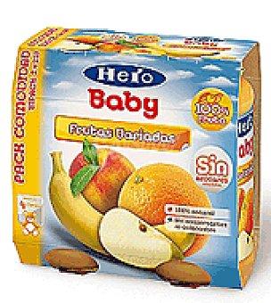 Hero Baby Tarrito frutas variadas Pack de 2x250 g