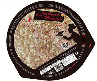 Auchan Pizza barbacoa churrasco cocida en horno de piedra 400 gramos