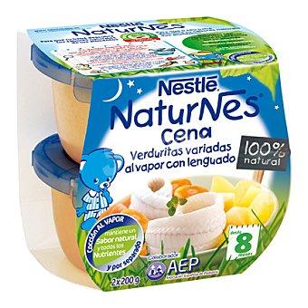 Naturnes Nestlé Verduritas variadas al vapor con lenguado Naturnes Pack de 2x200 g