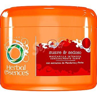 Herbal Essences Mascarilla suave & sedoso intensiva sensualmente suave con extractos de Mandarina y Perlas Tarro 200 ml