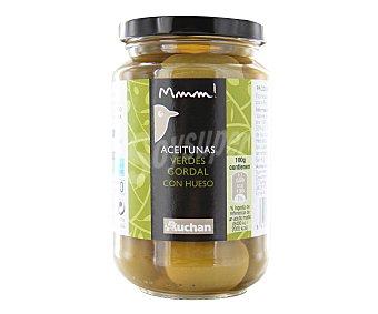 Mmm Auchan Aceitunas verdes gordal con hueso 200 gramos peso escurrido