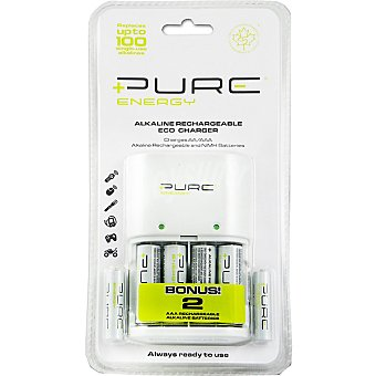 PURE ENERGY Cargador para pilas aa/aaa + 4 pilas AA + 2 pilas AAA blister 1 unidad 4 unidades