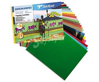 Sadipal Bloc de manualidades de 42 hojas de papeles surtidos, sadipal