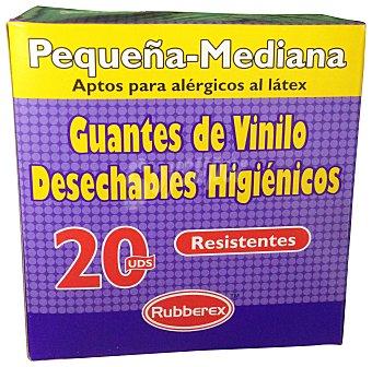 Rubberex Guantes desechables vinilo mediana / grande Paquete 20 u