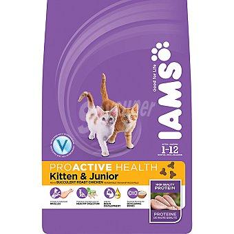 IAMS PROACTIVE NUTRITION Kitten & Junior alimento completo para gatitos hasta 12 meses con pollo bolsa 2,5 kg