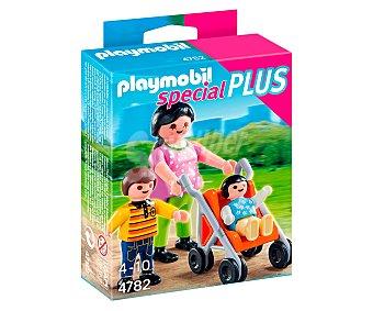 Playmobil Figura Special Plus mamá con niños, incluye carrito, modelo 4782 de 1 unidad