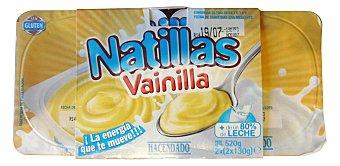 Hacendado Natillas vainilla Pack 4 x 130 g - 520 g