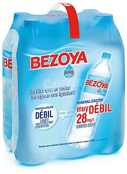 Bezoya Agua mineral Botella de 1,50 l. pack de 6